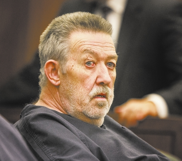 Nurse anesthetist Ronald Lakeman as as seen Thursday, Oct. 24, 2013 during sentencing at Regional Justice Center. Lakeman was sentenced to eight to 21 years in prison for his criminal convictions  ...
