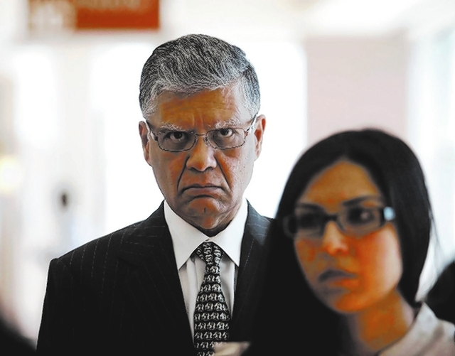Dr. Dipak Desai was in court Thursday for sentencing for his criminal convictions in the deadly hepatitis C outbreak. (Las Vegas Review-Journal file)