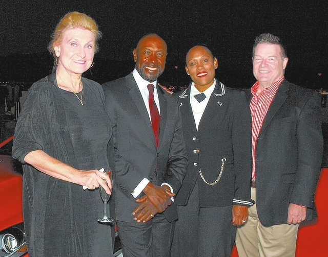 Sam King, from left, Charles Ford, Mira McKissic and David Soyk
