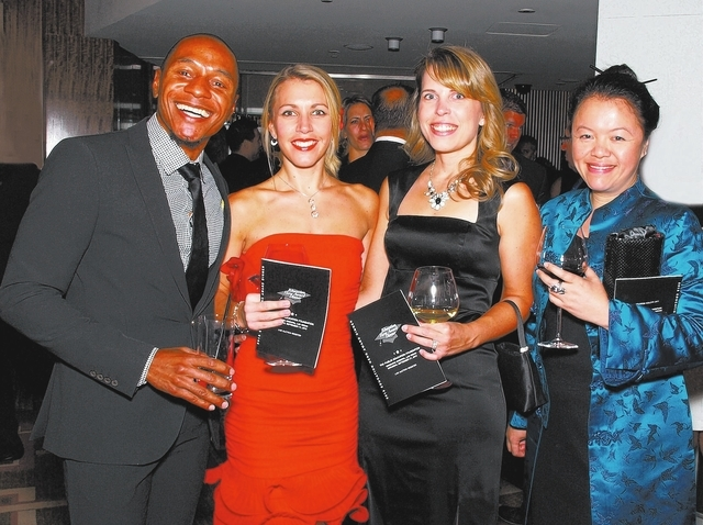Jay Guilford, from left, Pauline Frette, Brooke Wahlquist and May Leng Yuen (Marian Umhoefer/Las Vegas Review-Journal)
