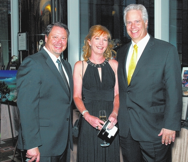 Pat Skorkowsky, from left, and Melinda and Bob Brown (Marian Umhoefer/Las Vegas Review-Journal)