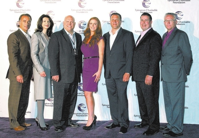 Sean DiCicco, from left, Ana Marie Mormando, Jason Shkorupa, Melissa Arias, Kelley Jones, Michael Kennedy and Rene Werner