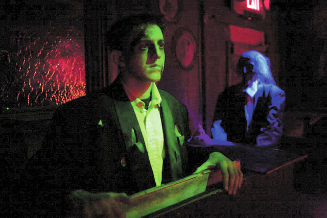 An actor prepares to give a frightening (in a good way) performance at Hotel Fear and The Asylum, the veteran Las Vegas haunted houses which have moved to Meadows mall this Halloween. (Alex Federo ...
