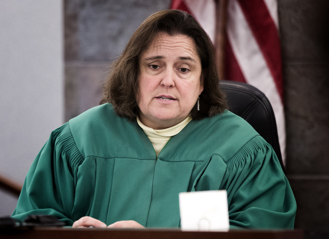 District Judge Kathleen Delaney appointed new counsel to represent Ammar Harris on Wednesday after the Special Public Defender office withdrew from the case. (Jeff Scheid/Las Vegas Review-Journal)