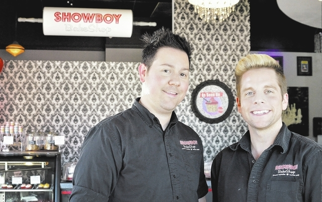 """From left, Showboy BakeShop owners Jared Sullivan and Stephen Lowry were contestants on the Food Network's """"Cupcake Wars."""" (Bill Hughes/View)"""