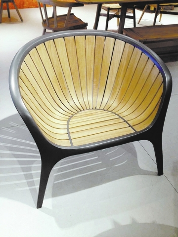 Gloster Furniture debuted its Bella collection. The individual slats are made of multiple layers of laminated teak that are curved to fit into the powder-coated aluminum frame. The chair, designed ...