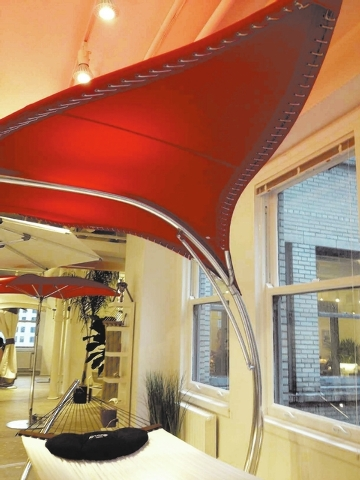 The Stingray by Tuuci turns an ordinary shade structure into a sculptural piece of art. The cover is made of marine-grade canvas and is designed to withstand winds of at least 60 miles per hour.