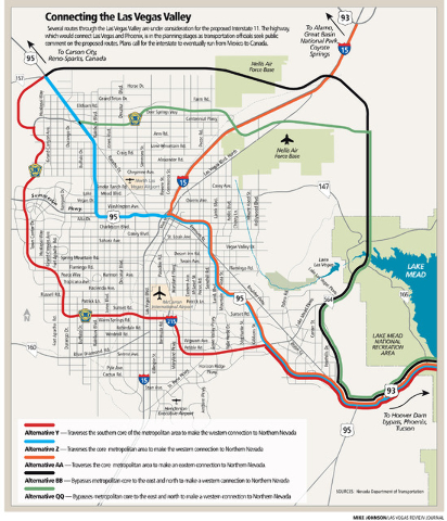 A Way Through The Valley Public Mulls Interstate 11 Routes Las
