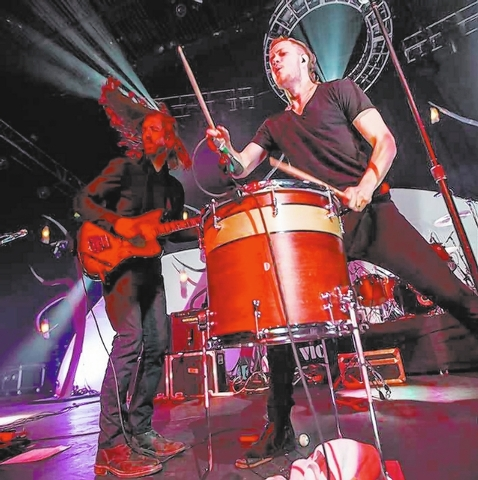 Dan Reynolds and Imagine Dragons will join the Killers as local anchors to the Life is Beautiful music bill. The music and arts festival debuts downtown on Oct. 26 and 27. (Chase Stevens/Las Vegas ...
