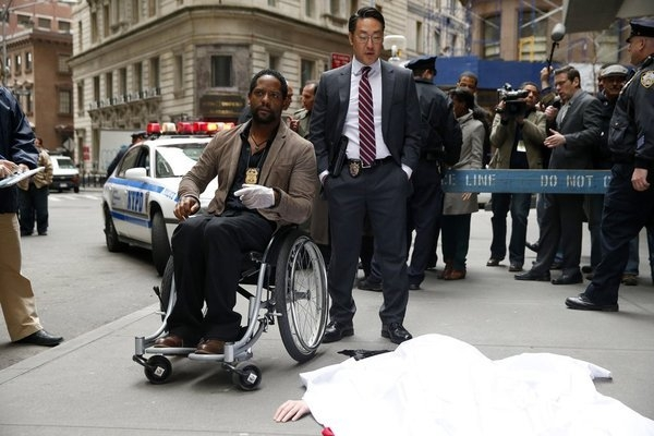 IRONSIDE -- Pilot -- Pictured: (l-r) Blair Underwood as Robert Ironside, Kenneth Choi as Ed -- (Photo by: Will Hart/NBC)