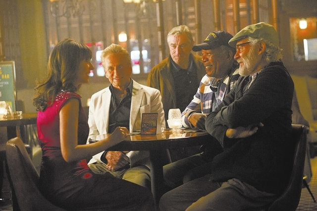 "Mary Steenburgen, Michael Douglas, Robert De Niro, Morgan Freeman and Kevin Kline star in ""Last Vegas."" (Courtesy)"