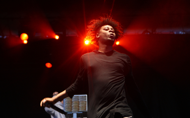 Danny Brown performs during the Life is Beautiful festival in downtown Las Vegas on Sunday, Oct. 27, 2013. (Chase Stevens/Las Vegas Review-Journal)