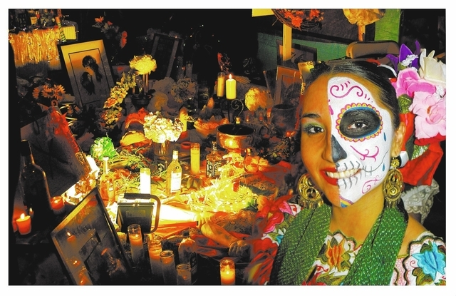Alondra Contreras of the dance group Xyachimal takes part in the 2010 Day of the Dead Festival at the Winchester Cultural Center. (Special to View)