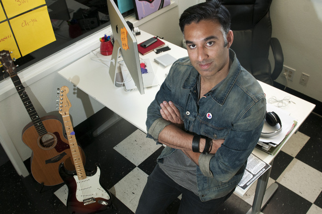 Rehan Choudhry, founder of Life is Beautiful Festival, poses for a photograph at his office on Fremont Street, Saturday, Sept. 21, 2013, in Las Vegas, Nev. The festival is scheduled to take place  ...