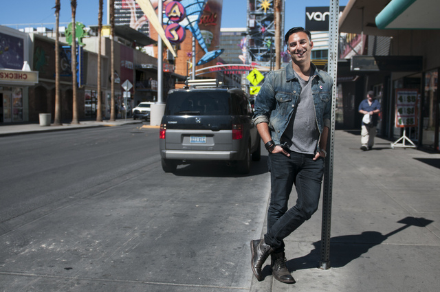 Rehan Choudhry, founder of Life is Beautiful Festival, poses for a photograph near his office on Fremont Street, Saturday, Sept. 21, 2013, in Las Vegas, Nev. The festival is scheduled to take plac ...