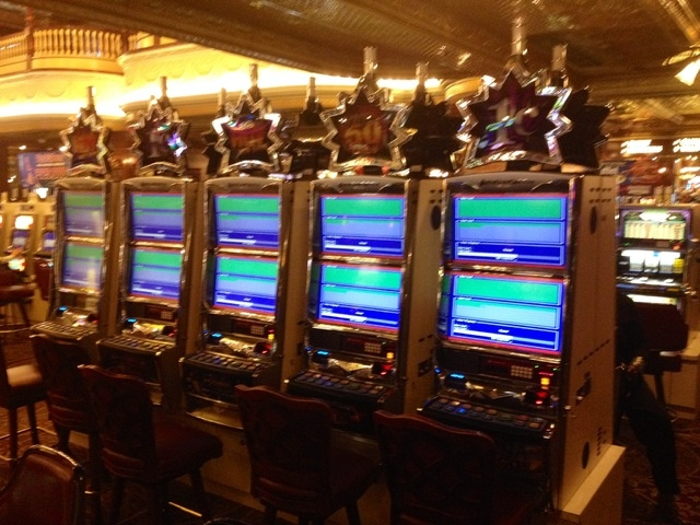A power outage shortly after noon Monday affected the casino at Main Street Station in downtown Las Vegas, shutting down slot machines. Power was restored shortly. (Vikas Khorana/Las Vegas Review- ...