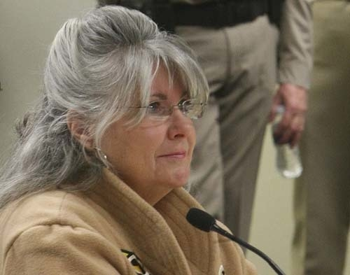 County assessor Shirley Matson appears before the Nye County commission in this March 25, 2011 file photo, explaining comments she made in e-mails to Nye County sheriff Tony DeMeo. (GARY THOMPSON/ ...