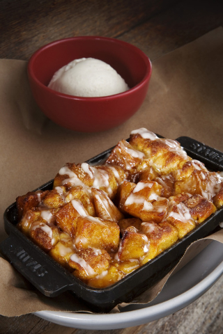 Apple Monkey Bread is displayed at the Culinary Dropout restaurant located in the Hard Rock Hotel-casino on Thursday, Sept. 26, 2013. (Jeferson Applegate/Las Vegas Review-Journal)