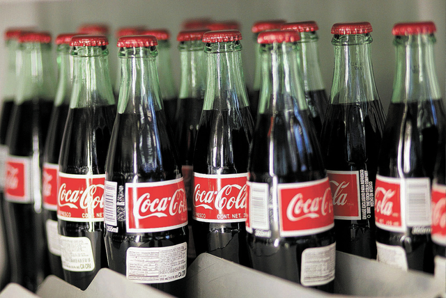 Glass bottles of coke manufactured in Mexico stay cold in a cooler at the One Stop Shop gas station at 1420 W. Bonanza Road in Las Vegas Thursday, Sept. 26, 2013. (John Locher/Las Vegas Review-Jou ...
