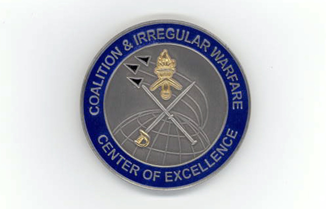 Unofficial patch of the now-defunct Coalition and Irregular Warfare Center at Nellis Air Force Base.  The unit was officially known as Detachment 1 of the United States Air Force Warfare Center at ...