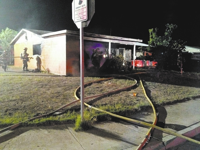 The North Las Vegas Fire Department responded to a single family, single story brick home fire reported the evening of Sept. 26. The fire was reported by a number of neighbors and bystanders. The  ...