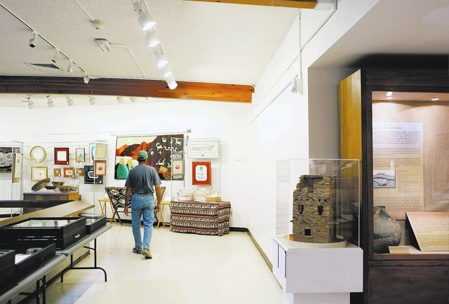 A man tours the Lost City Museum Thursday, Oct. 17 2013, in Overton, Nev. The museum, located at 721 S. Moapa Valley Blvd., contains artifacts found in Southern Nevada that give insight to the nat ...
