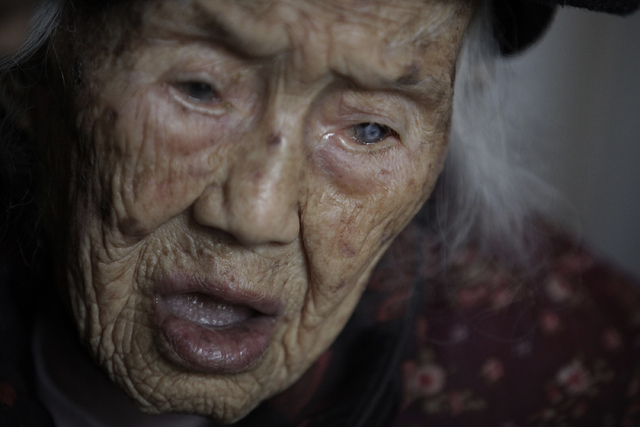 Zhang Zefang, a 94-year-old woman who sued her own children for not taking care of her, speaks at her house in Fusheng Village, east of Chongqing City, China on March 19, 2013. The worlds  ...