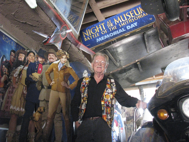 Former Lt. Gov. Lonnie Hammargren stands near a display inside his home's movie tribute room, Oct. 13, 2009. His annual open house in honor of Nevada Day is set for Nov. 2-3. (F. Andrew Taylor/Vie ...