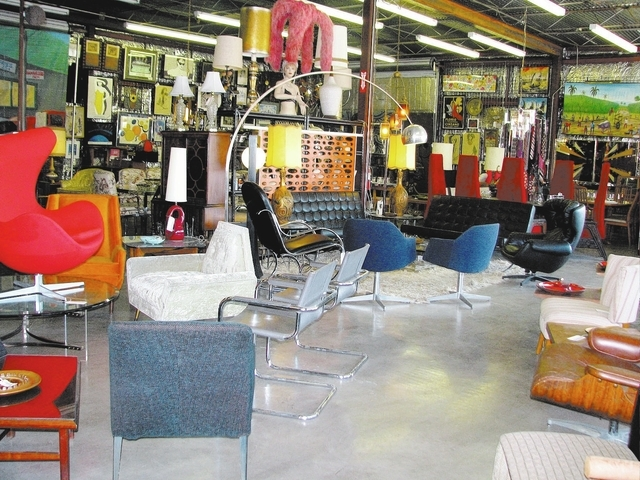 Vintage home furnishings are displayed at Retro Vegas, 1131 S. Main St. The business formerly occupied a smaller space at 1211 S. Main St. (F. Andrew Taylor/View)
