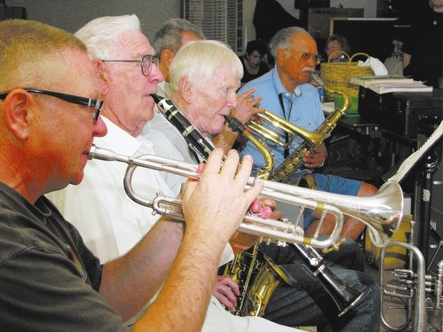 Long-time musicians practice at local musician Jim Hemming's home. (F. Andrew Taylor/View)