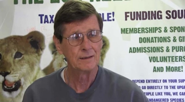 Photo of Pat Dingle from a video posted on Youtube in January discussing the Las Vegas Zoo. (Courtesy/Youtube)