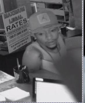 One of the two unidentified men involved in the crime. (Courtesy LVMPD)