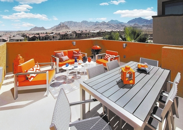 Courtesy photo Ryland Homes' Persius model shows off the builder's signature rooftop deck. The home is in Verada View within Providence, a master-planned community in the northwest valley.