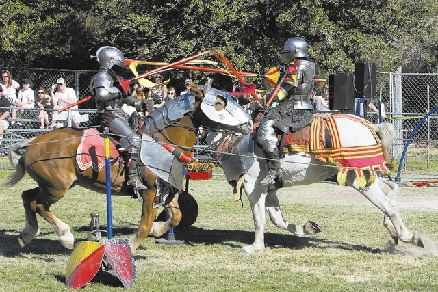 DUANE PROKOP / LAS VEGAS REVIEW-JOURNAL Knights joust on the Field of Honor at the Age of Chivalry - Las Vegas Renaissance Festival at Sunset Park, October 10, 2010 in Las Vegas, Nevada.