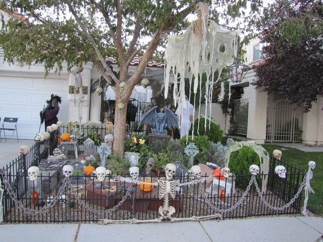 Rictor Riolo's home at 9217 Buckhaven Drive is shown decked out for Halloween. He said he's spent about $10,000 on his display. (Special to View)