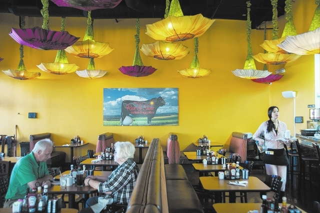 The interior of Rise & Shine, a Steak and Egg Place, located at 10690 Southern Highlands Parkway 89141, in Las Vegas, Friday, September 27, 2013. (Martin S. Fuentes/Las Vegas Review Journal)