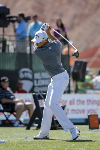 Jamie Sadlowski, a former junior hockey player from Alberta, Canada, can hit a golf ball 475 yards. He will take part in the RE/MAX World Long Drive Championship at Las Vegas Motor Speedway on Wed ...