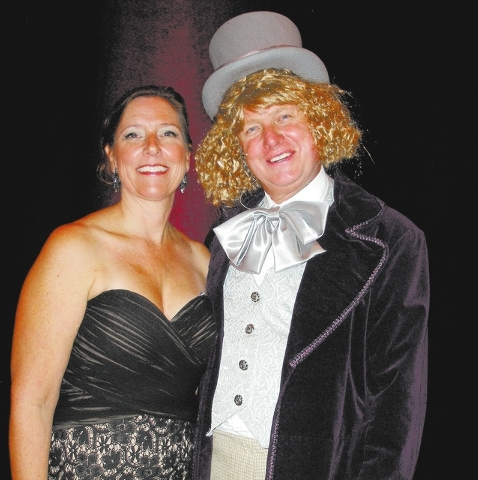 Lisa Habighorst and Christian Kolberg as Willy Wonka. (Courtesy)