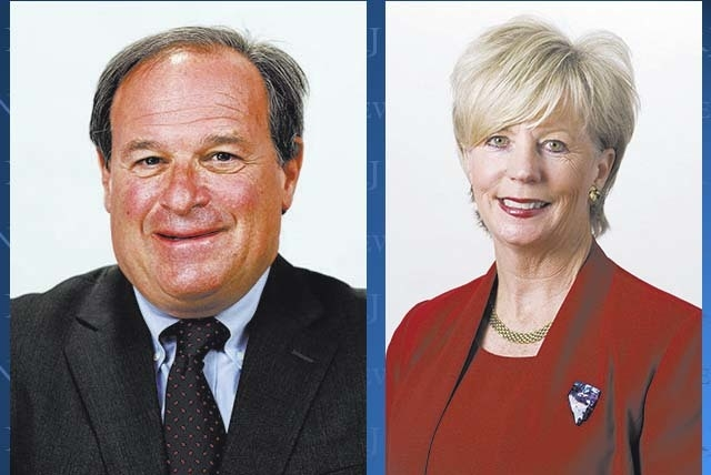 Dan Schwartz, left, and Kim Wallin are the current favorites to square off in the race for Nevada state treasurer.