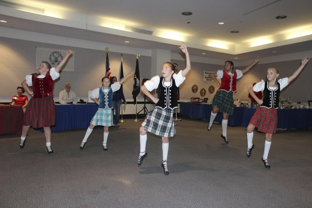 Participants in the 13th annual Something Scottish event dance Sept. 14 at the Sahara West Library, 9600 W. Sahara Ave. (Special to View)