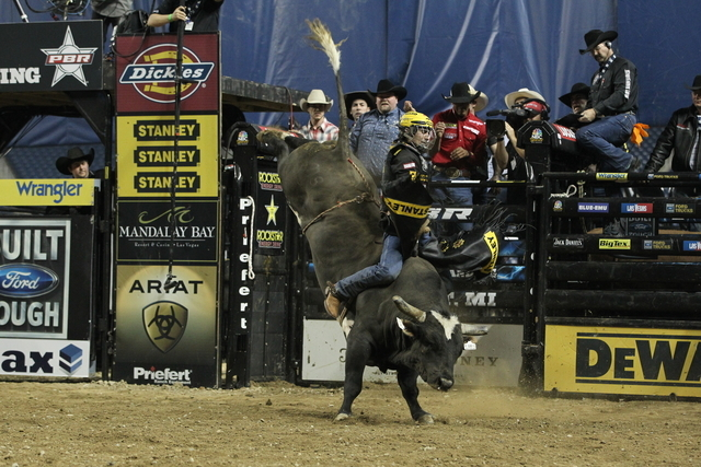 Brazilian Silvano Alves, shown earlier this season, has won the past two Professional Bull Riders world titles and holds a 538.5-point lead this season over J.B. Mauney, who has won three consecut ...