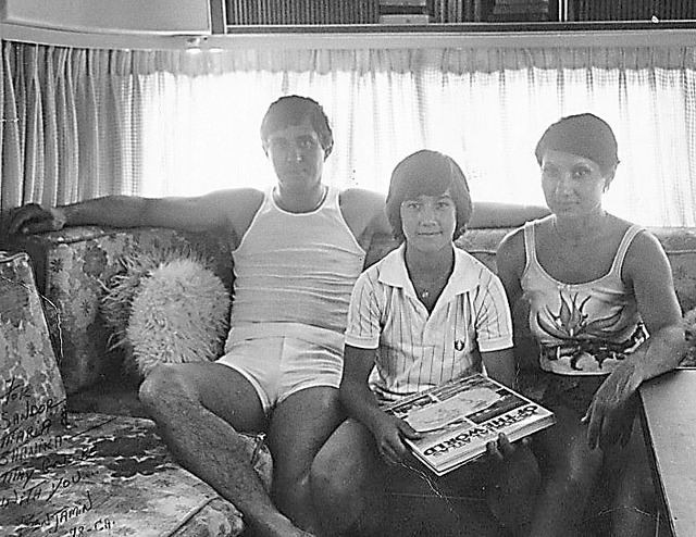 Circus performers Sandor Rajnai Sr., son Sean, and mother Suzi Rajnai at home in their trailer about one year after the incident. Sean recalls wanting to recover quickly so that he could return to ...