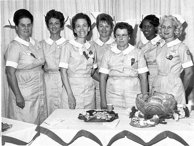 A  photo from 1966 shows the very traditional uniforms worn by some of the earliest students of what is now called the University of Nevada, Las Vegas School of Nursing.
