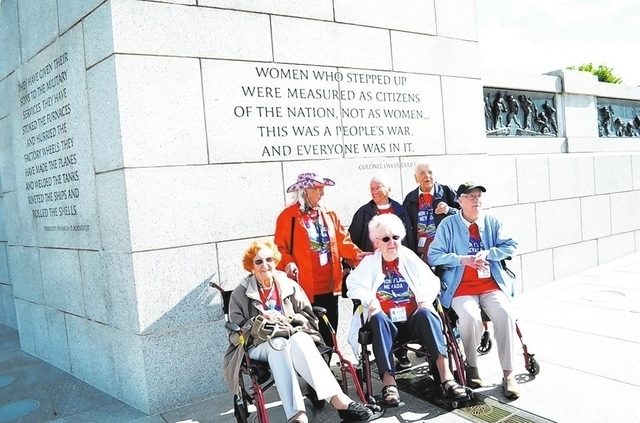 Honor Flight Southern Nevada flies World War II veterans to Washington, D.C., to see the World War II Memorial.  (Courtesy)