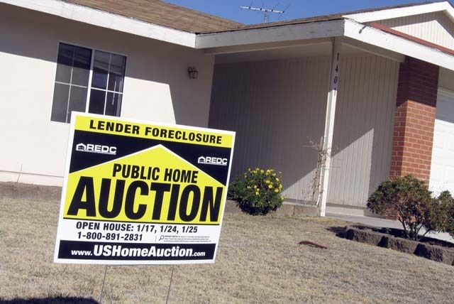 A home foreclosed upon in Boulder City in January 2009. (Las Vegas Review-Journal file)