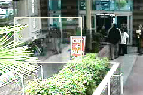 Family Court marshals appear to have a man on the ground near the metal detector in this video screengrab. (Courtesy)