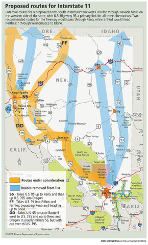 Western Nevada Routes Favored For Massive Interstate 11 Project
