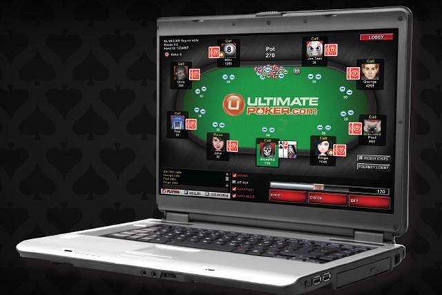 Artist's rendering of the UltimatePoker.com website homepage. (Courtesy ultimatepoker.com)