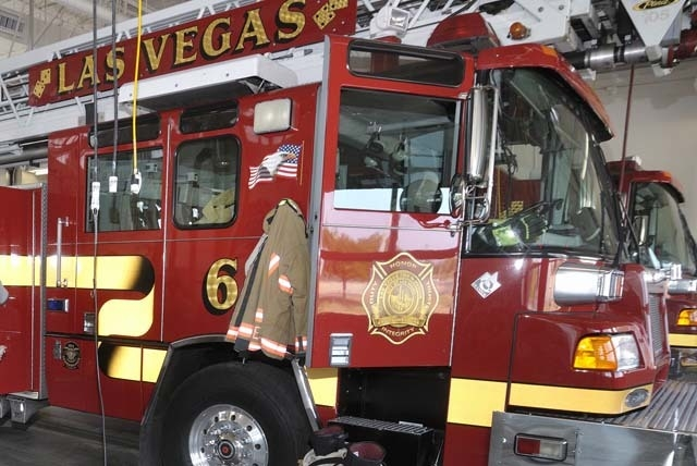 City officials will break ground for a new fire station at 577 Page St. near Bonanza Road on Oct. 8. (Bill Hughes/Las Vegas Review-Journal File Photo)