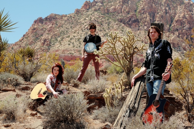 Members of the band Tenasie, from left, Tenasie Bowe, Matt Keyler and Jordan Harazin are seen in this undated publicity photo taken at Spring Mountain Ranch State Park. New to the group is drummer ...